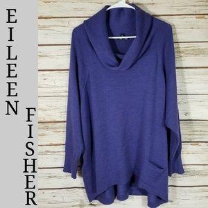 Eileen Fisher Purple Oversized Medium Sweater,
